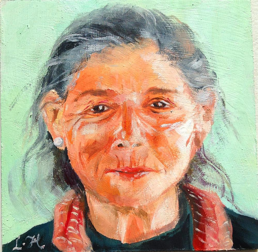 """Portrait  No.004"" original fine art by Hui (Hue) Li"