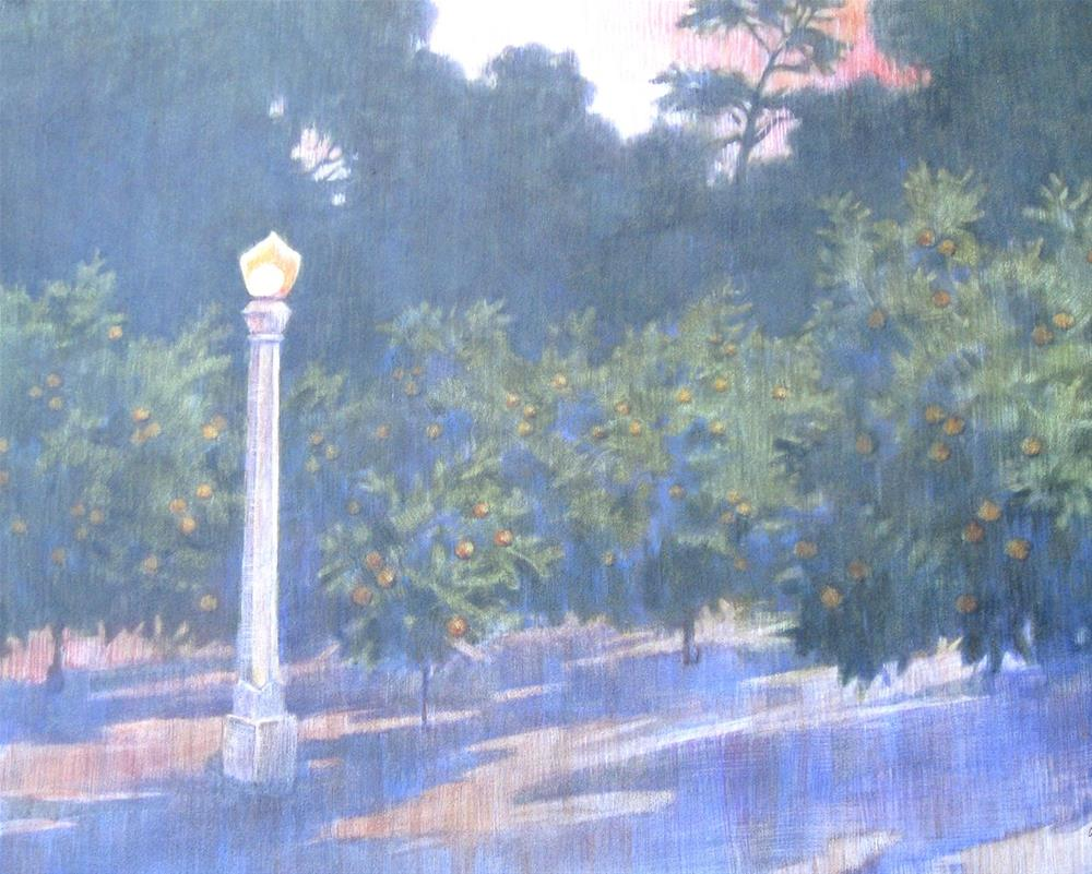 """Evening Light in Prospect Park"" original fine art by Ginger Pena"