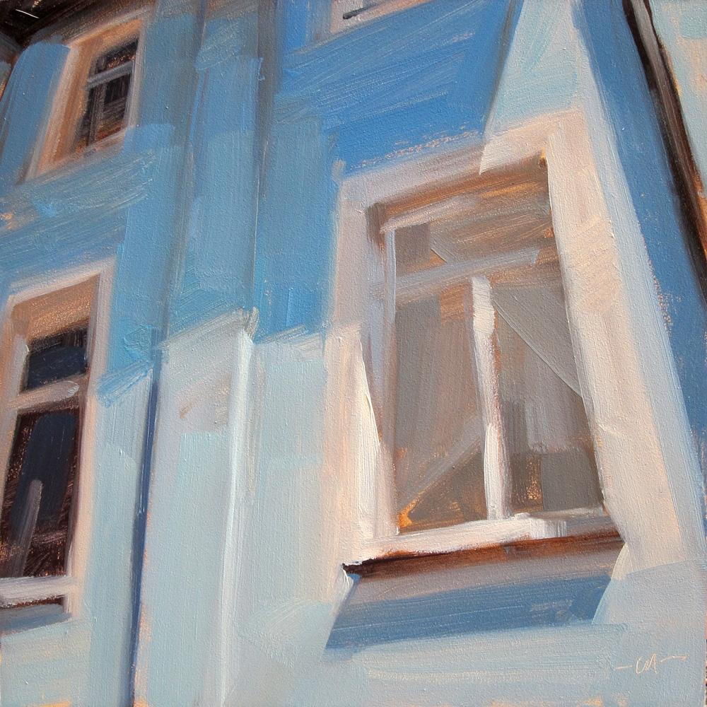 """German Windows"" original fine art by Carol Marine"