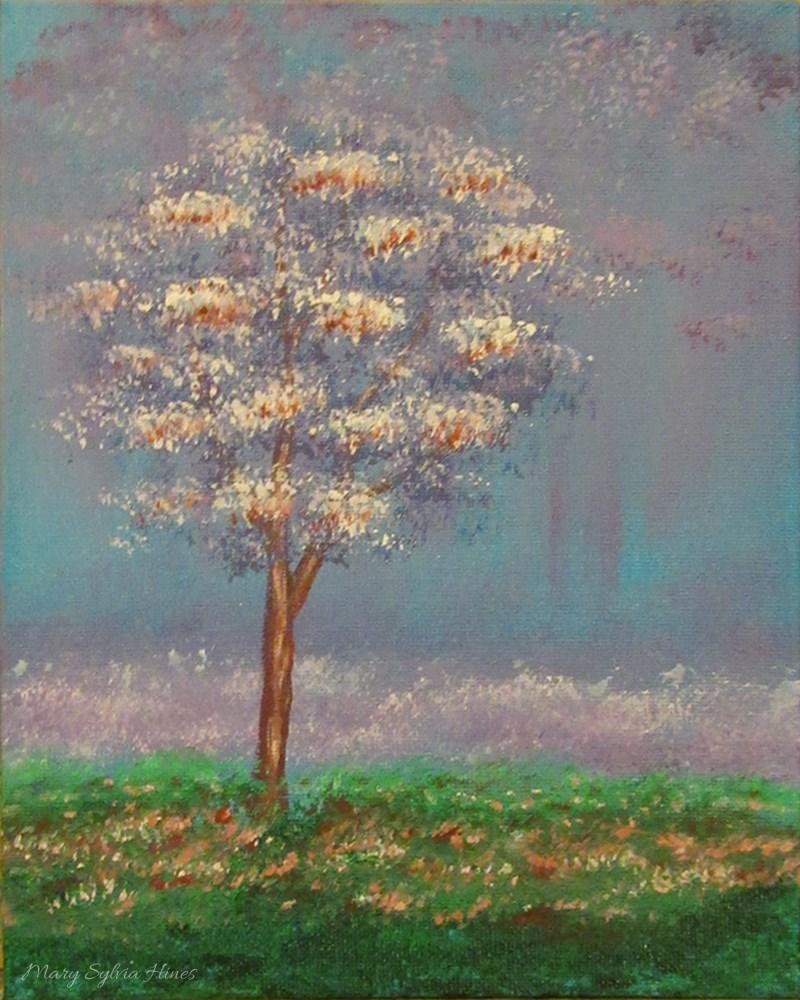 """""""Tree 01"""" original fine art by Mary Sylvia Hines"""
