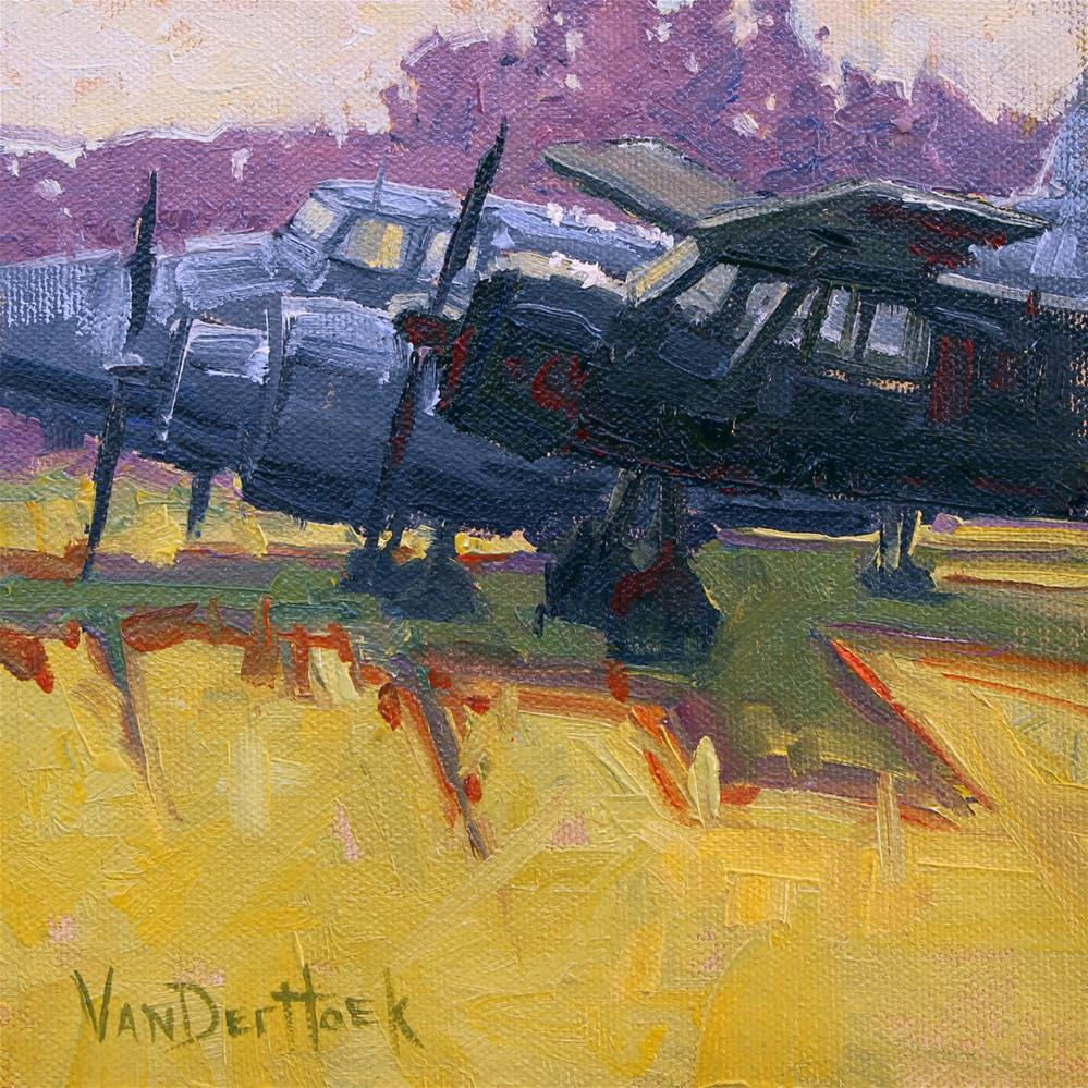 """Parked Planes"" original fine art by Kim VanDerHoek"
