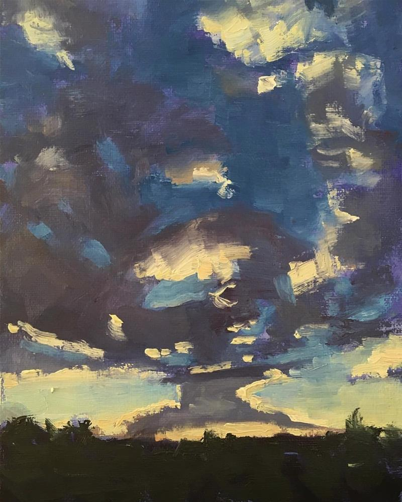 """Sky in July"" original fine art by Kaia Thomas"
