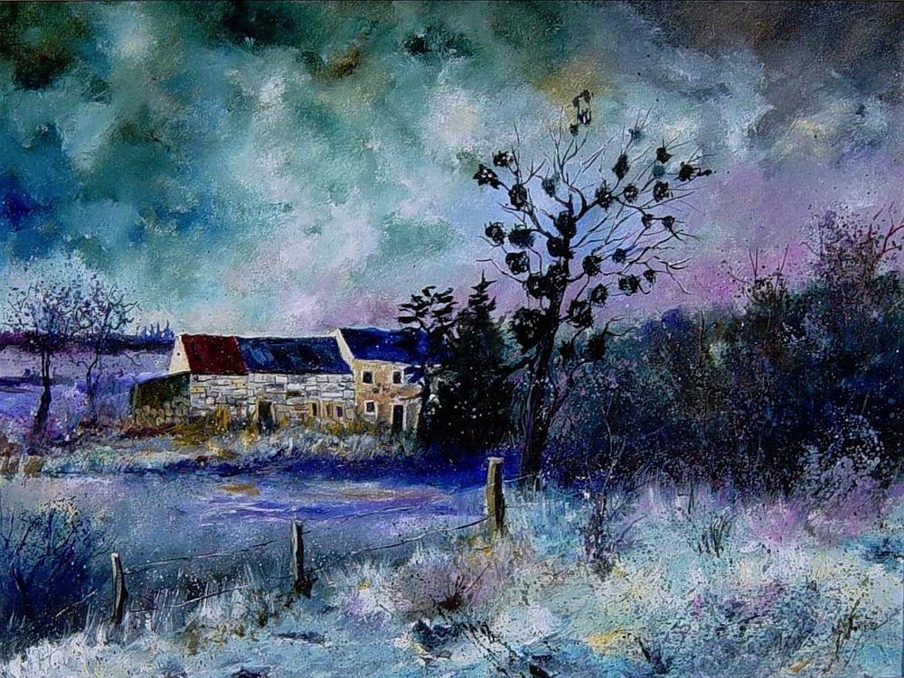 """""""Maisoncelles"""" original fine art by Pol Ledent"""