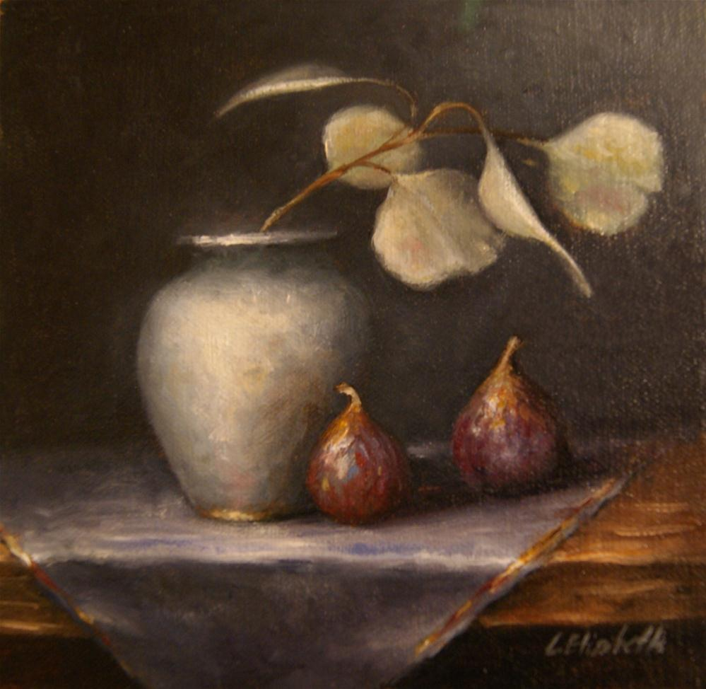 """Figs and Eucalypti Still Life"" original fine art by Carolina Elizabeth"