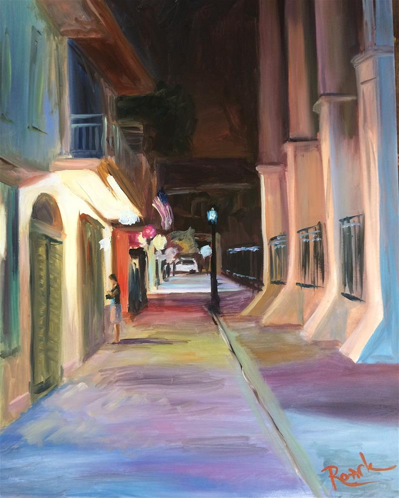 """Night In New Orleans"" original fine art by Carol Roark"