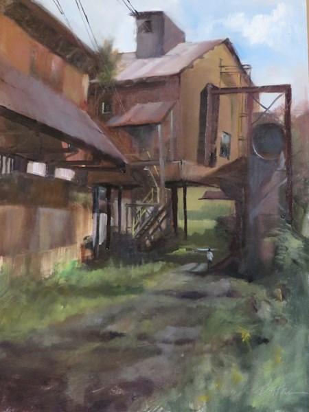 """Ghosts of Steel City"" original fine art by Beth Bathe"