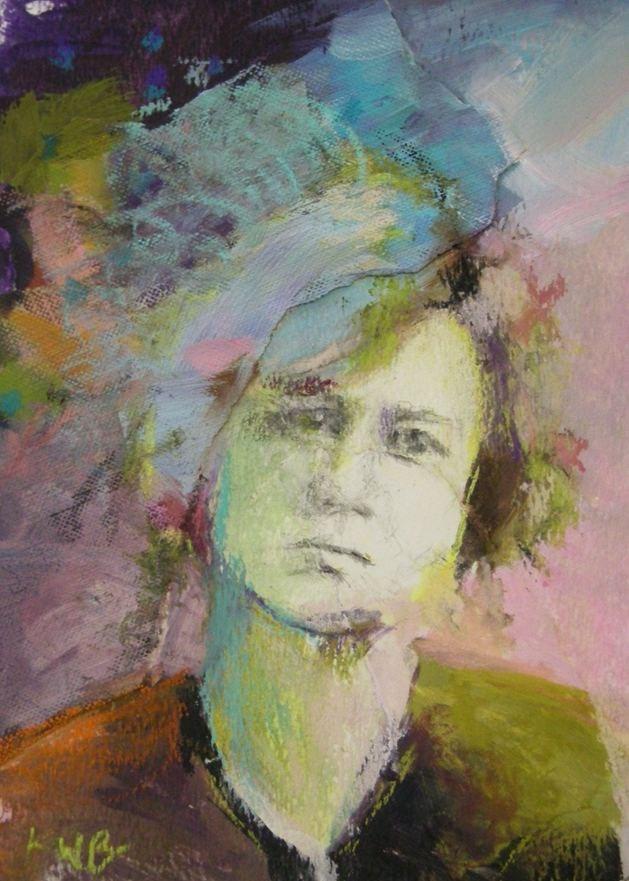 """""""Blue Hair"""" original fine art by Katie Wilson"""