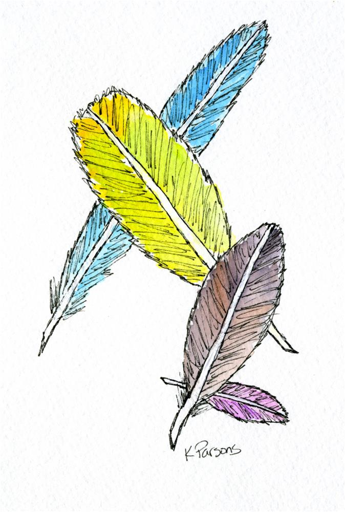 """Feathers"" original fine art by Kali Parsons"