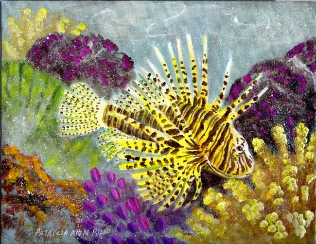 """Lionfish 2"" original fine art by Patricia Ann Rizzo"