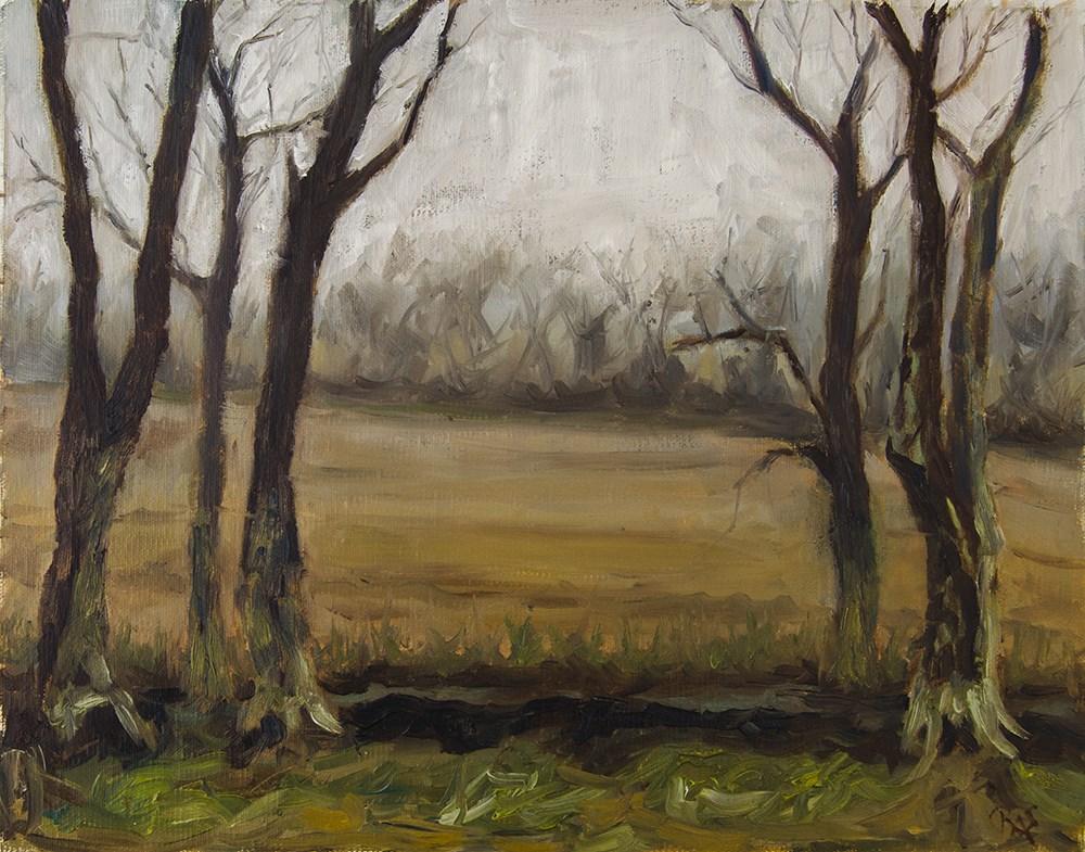 """Michael Buchanon Park"" original fine art by Rachel Steely"