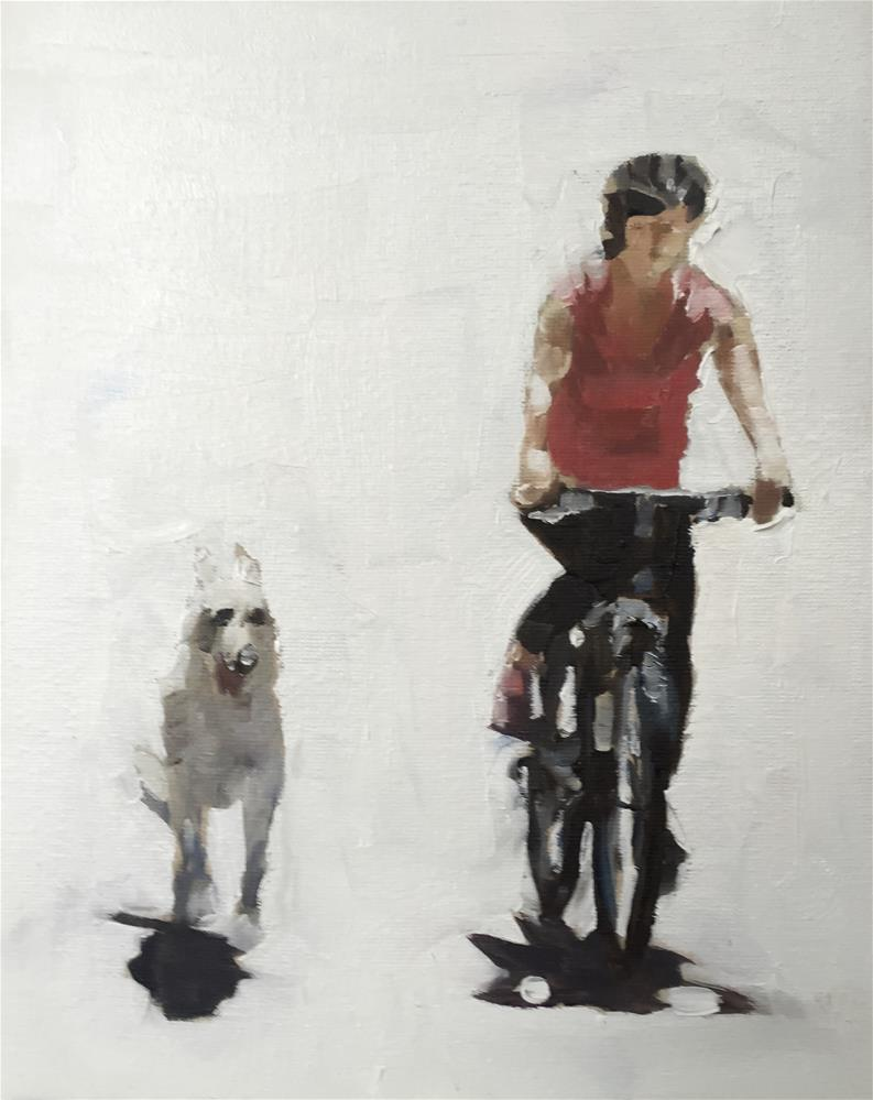 """Out With The Dog"" original fine art by James Coates"