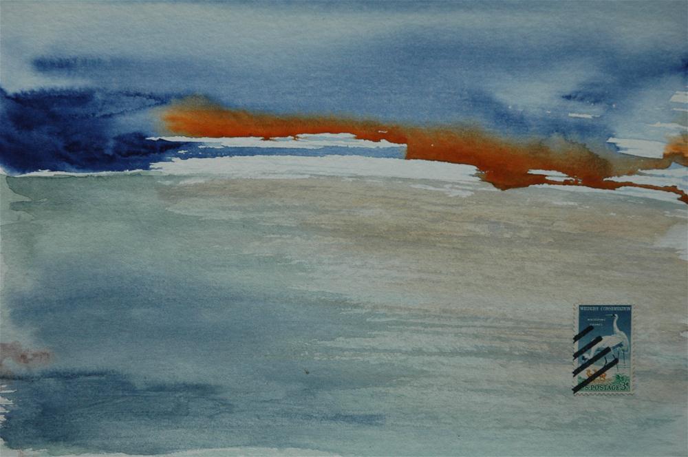 """Whooping cranes, U.S."" original fine art by Ulrike Schmidt"