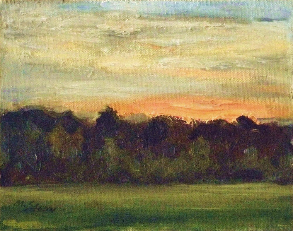"""Sunset at the forests edge"" original fine art by Michael Sason"