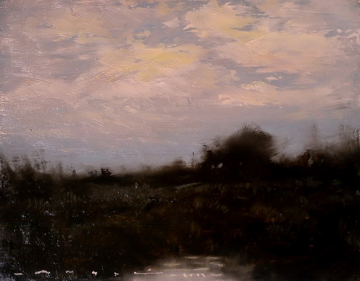 """landscape- Dusk 008"" original fine art by Angel Angelov"