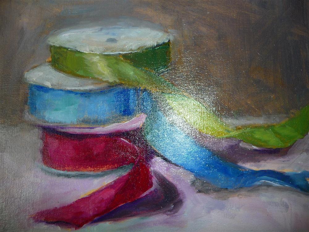 """ribbons"" original fine art by Carol Josefiak"