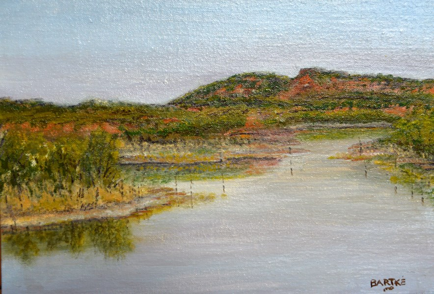 """Copper Breaks Big Pond"" original fine art by Janice Bartke Thompson"