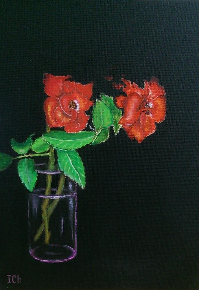 """Two Roses"" original fine art by Irina Chekhovtsova"