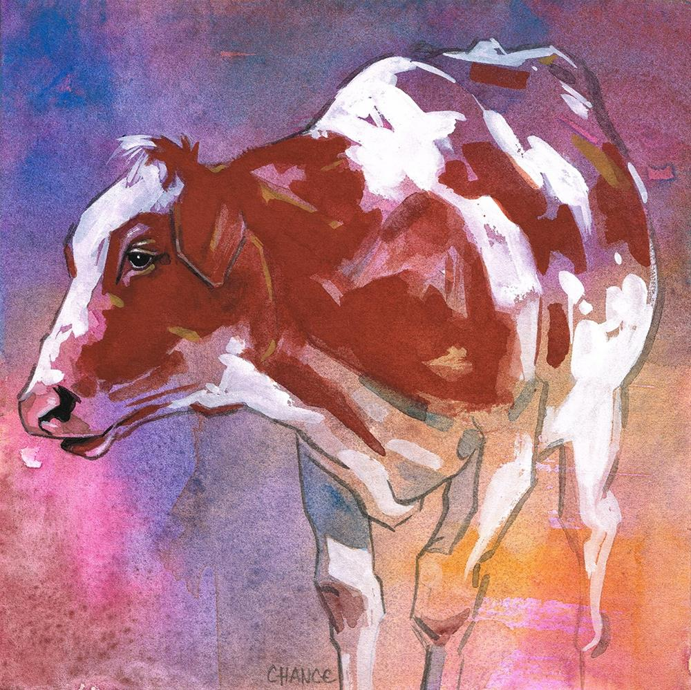 """No. 14 Cow"" original fine art by Annabel Chance"