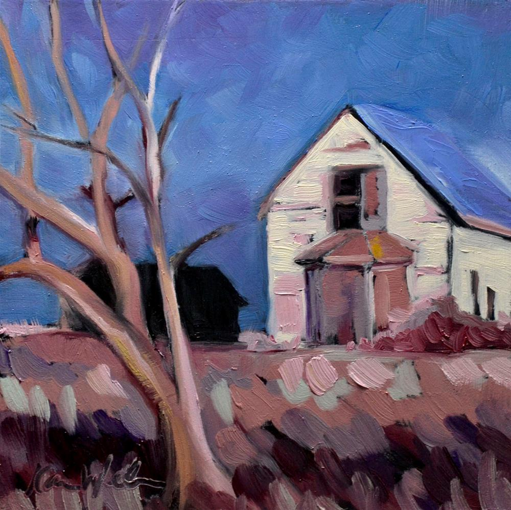 """Blue Roof"" original fine art by Karen Weber"