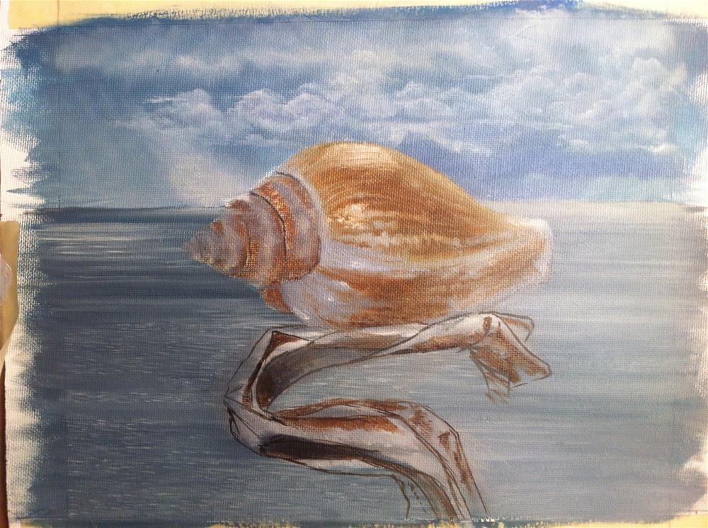 """""""Work in progress – shells"""" original fine art by Paulo Jimenez"""
