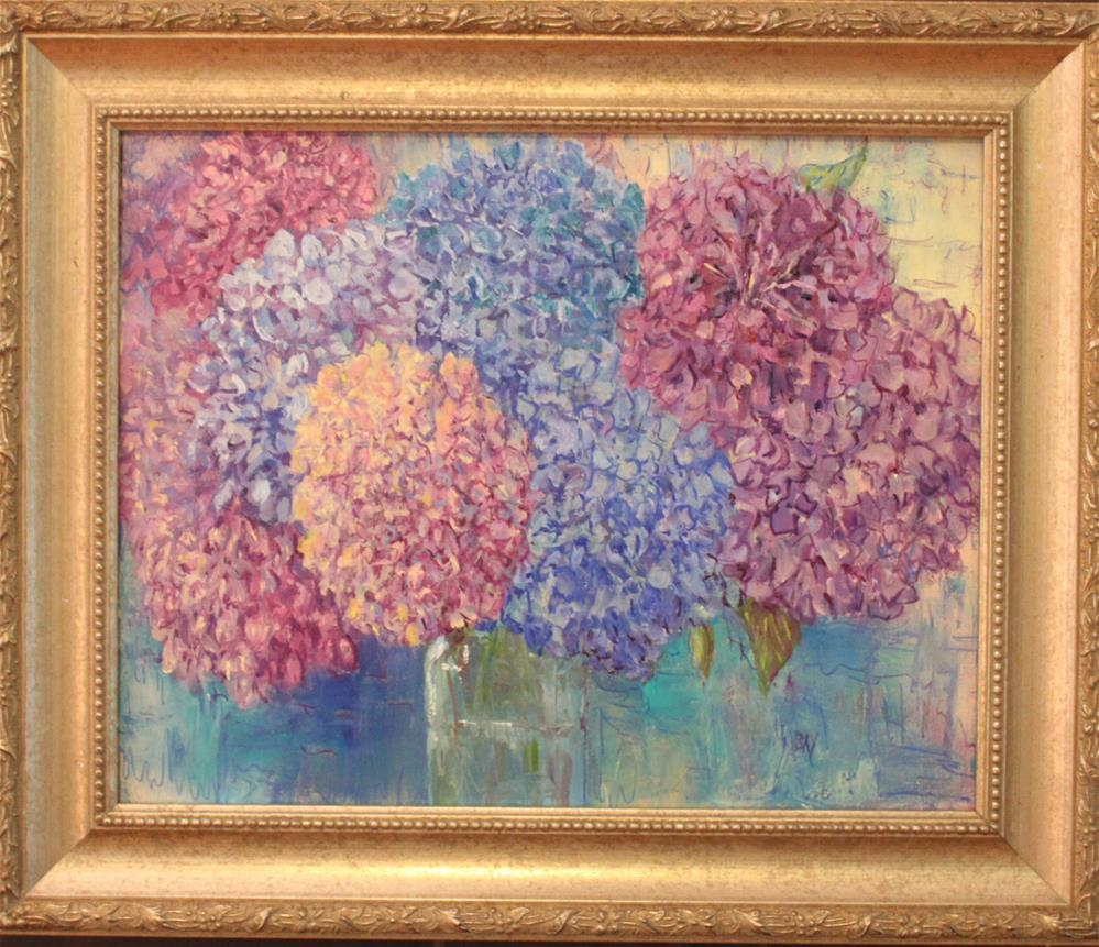"""HYDRANGEAS"" original fine art by barbara yongue"