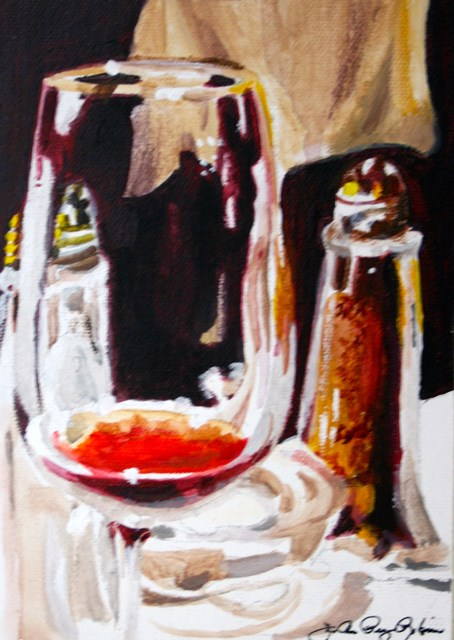 """Salt, Pepper and Pinot"" original fine art by JoAnne Perez Robinson"