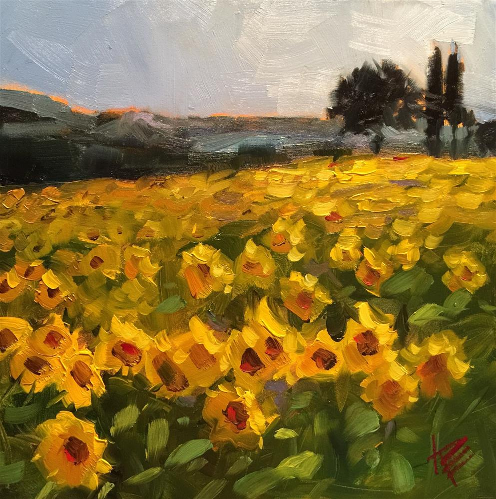 """The sun's always shining somewhere.."" original fine art by Krista Eaton"