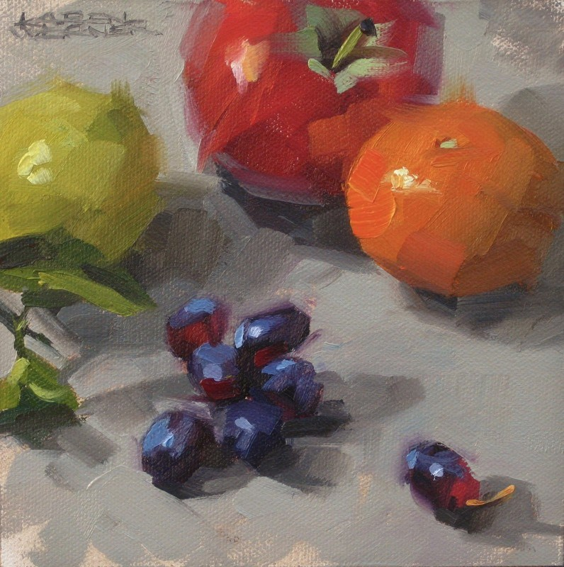 """Grape Escapes"" original fine art by Karen Werner"