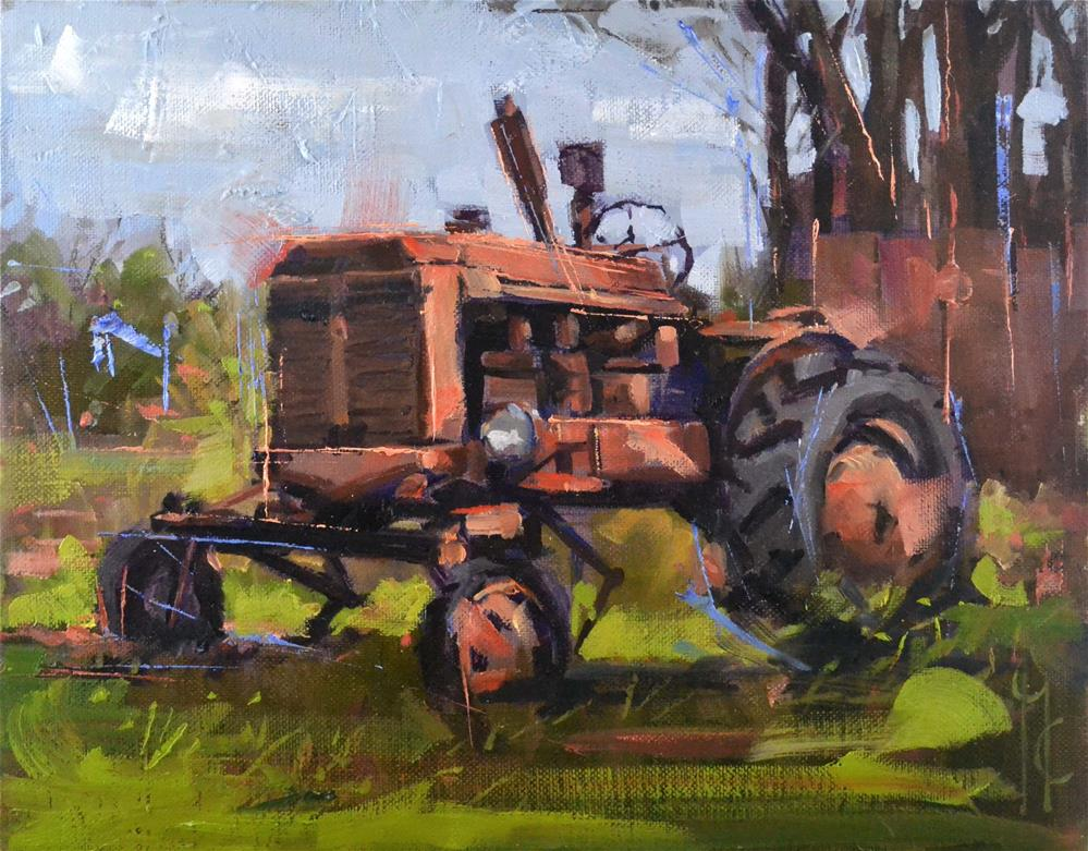 """""""Morning on the farm"""" original fine art by Garry Colby"""