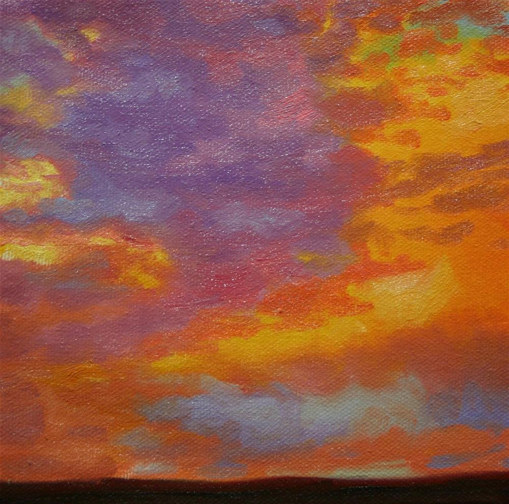 """Sunset in Violet and Yellow"" original fine art by K.R. McCain"