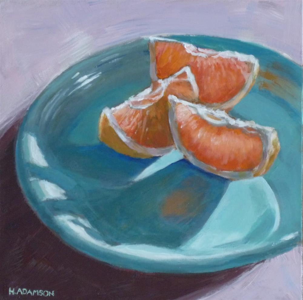 """Sunshine on a Plate"" original fine art by Helene Adamson"