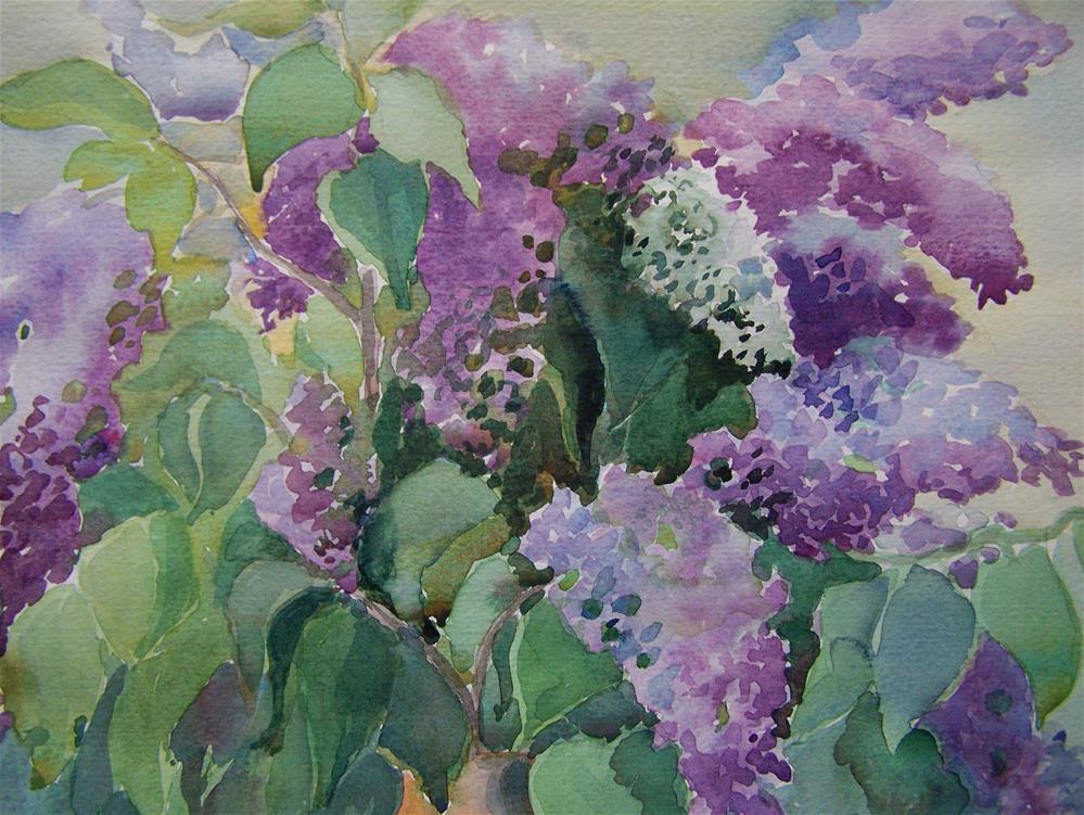 """""""Lilacs"""" original fine art by Joan Reive"""