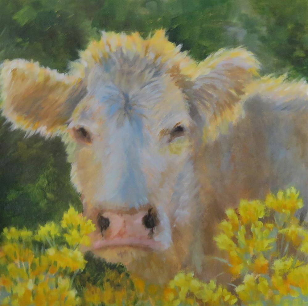 """Moo-ve Along"" original fine art by Pam Holnback"