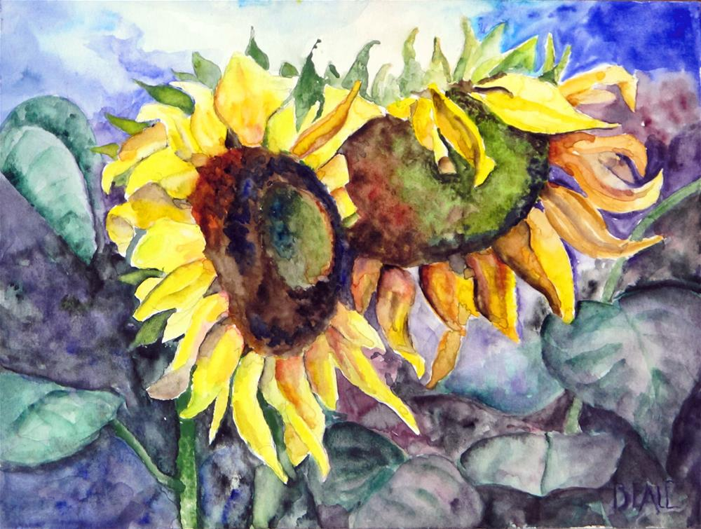 """Sunflowers"" original fine art by  David Beale"