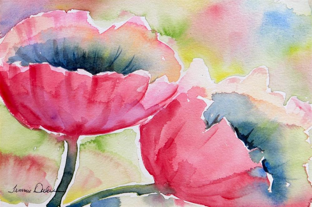 """Poppies Pink"" original fine art by Tammie Dickerson"