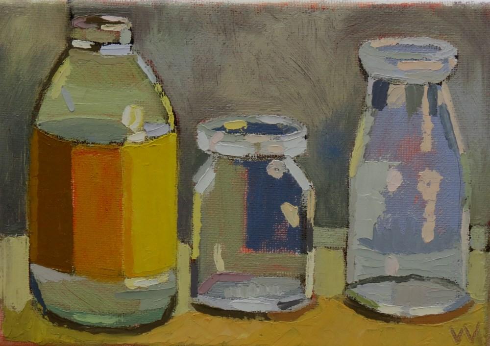 """""""Wintery Window"""" original fine art by Joan Wiberg"""