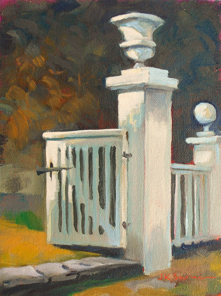"""Latinmeria Gate at Winterthur"" original fine art by Jeanne Bruneau"