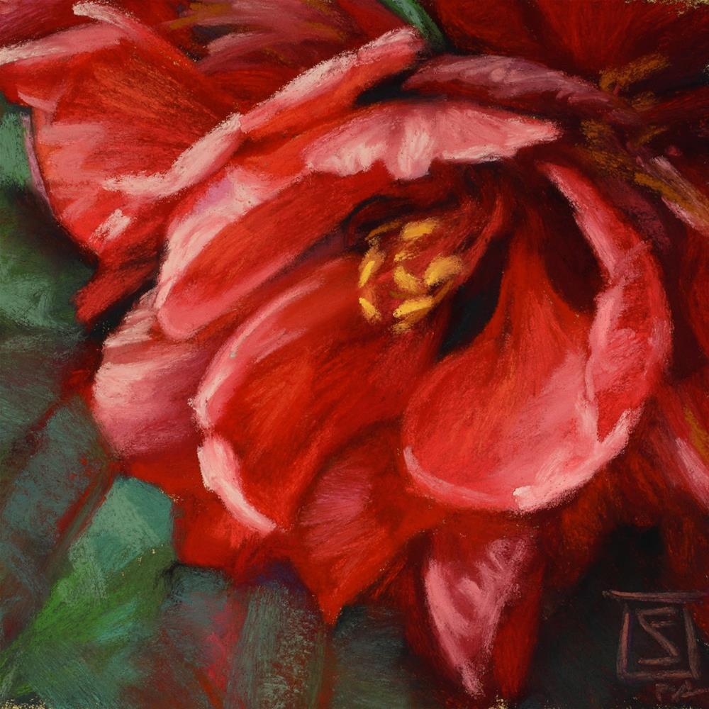 """Scarlet Star"" original fine art by Sheila Evans"