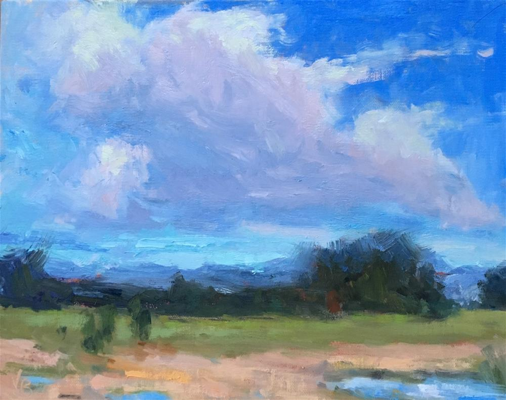 """Clouds on the Move"" original fine art by Victoria  Biedron"