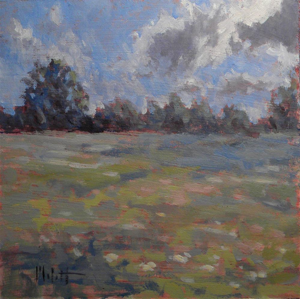 """A Day in August Summer Landscape Daily Oil Painting"" original fine art by Heidi Malott"