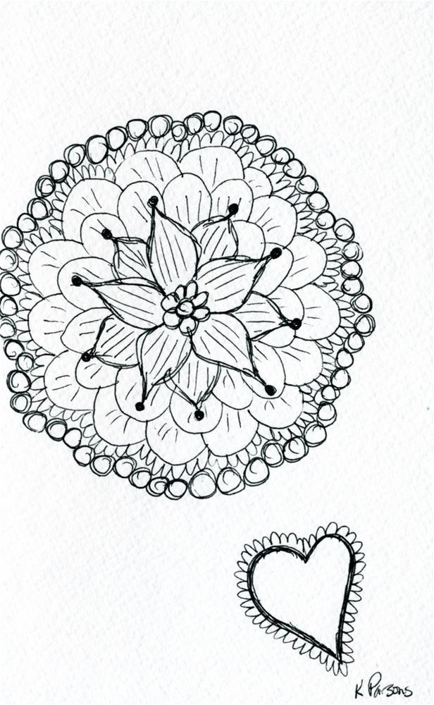 """""""Doodle Love"""" original fine art by Kali Parsons"""