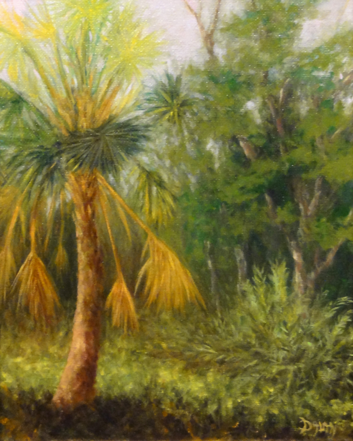 """Fan Palm"" original fine art by Dalan Wells"
