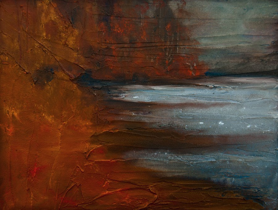 """Autumn On The Sound"" original fine art by Jani Freimann"