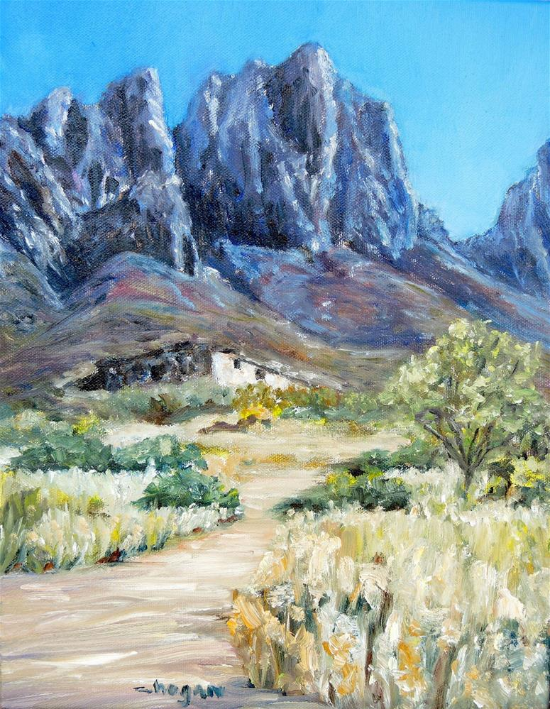 """Old Stone Casa, Organ Mountains"" original fine art by Candi Hogan"