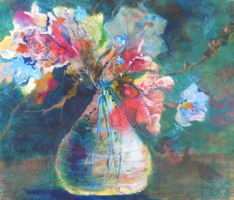 """Not Your Mother's Vase"" original fine art by Becky Chappell"