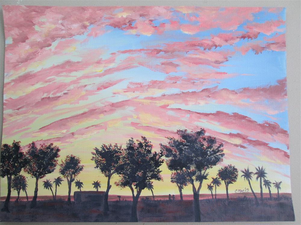 """Coquina Beach Sunset"" original fine art by Chris MacCormack"
