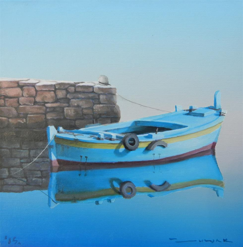 """Blue harbor"" original fine art by Dragan Culjak"