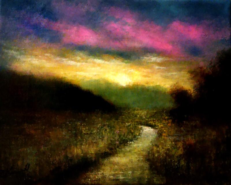 """Morning Color"" original fine art by Bob Kimball"