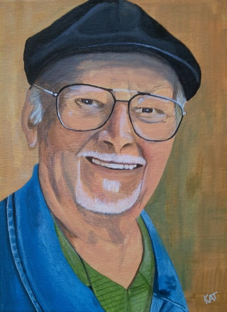 """George"" original fine art by Kathleen Carrier"