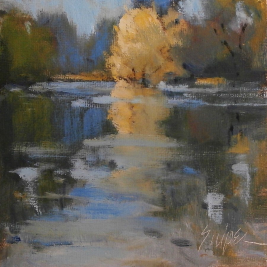 """Yellow Reflection"" original fine art by Connie Snipes"